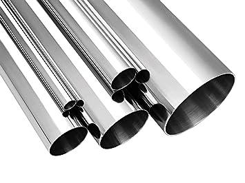 Juego 2 Tubos de acero inoxidable AISI 304 diámetro 52 mm ...