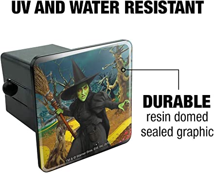 Graphics and More Wizard of Oz Wicked Witch Character Oval Tow Trailer Hitch Cover Plug Insert