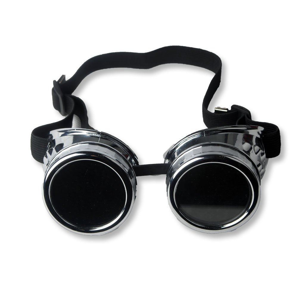 FUT ABS Steampunk Goggles- Halloween Cosplay Goggles, Photo Costume Props Vintage Glass