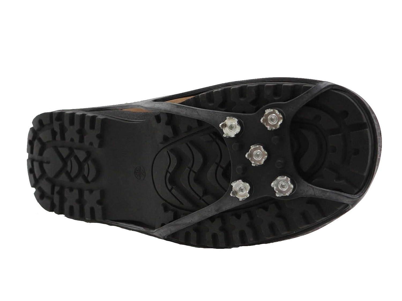 Schuhspikes von SLIDEFIX Steigeisen Rutschschutz f/ür sicheres Gehen und gute Bodenhaftung auf Schnee Eis und glattem Boden f/ür die eigene Sicherheit von feinsten