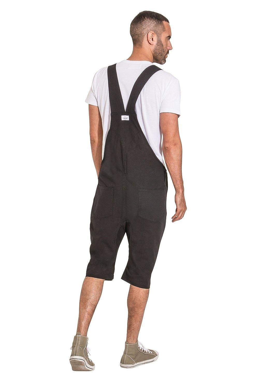 20bb150c USKEES Mens Bib Overall Shorts - Black Fashion Dungaree Shorts at Amazon  Men's Clothing store: