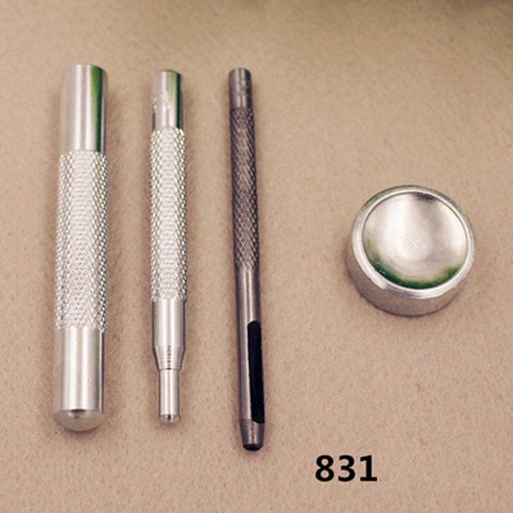 831 For 15mm//17mm Popper Die Punch Tool Set For 10//12.5//15//17mm Popper Snap Fasteners Press Studs Buttons