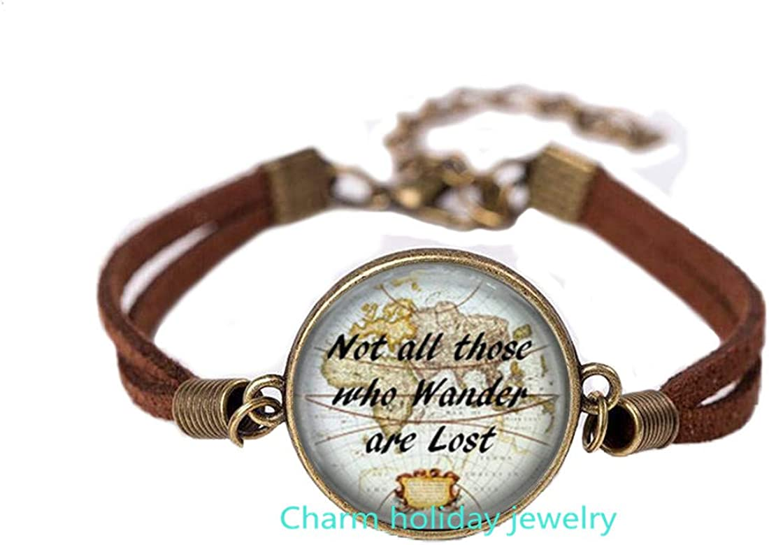 Not All Those Who Wander are Lost Tolkien Quote Bangle,Inspiring Jewelry,Inspirational Jewelry,Tolkien Quote,Inspirational Jewelry-#184