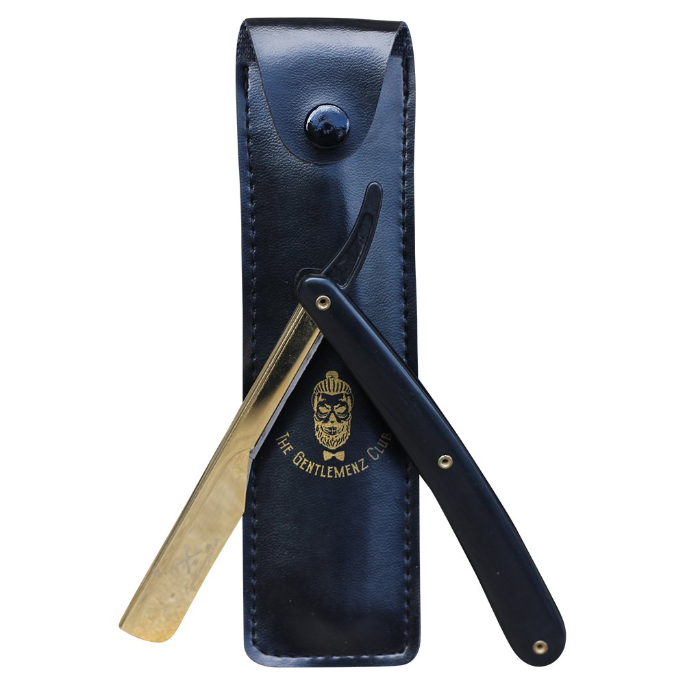 Push-in GOLD and BLACK Professional Barber Straight Edge Razor …
