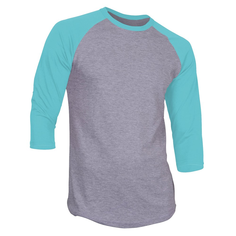DealStock Men's Plain Raglan Shirt 3/4 Sleeve Athletic Baseball Jersey S-3XL (40+ Colors) by DS