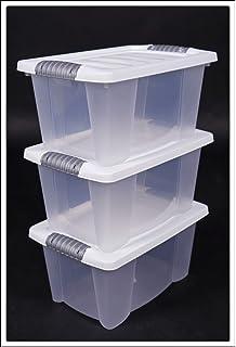 Innovativ Amazon.de: 3x Multibox mit Deckel in weiß - 30 x 20 x 15 cm - 3er  PL57