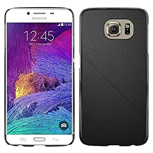 Exotic-Star ( Black leather ) Fundas Cover Cubre Hard Case Cover para Samsung Galaxy S6 / SM-G920 / SM-G920A / SM-G920T / SM-G920F / SM-G920I