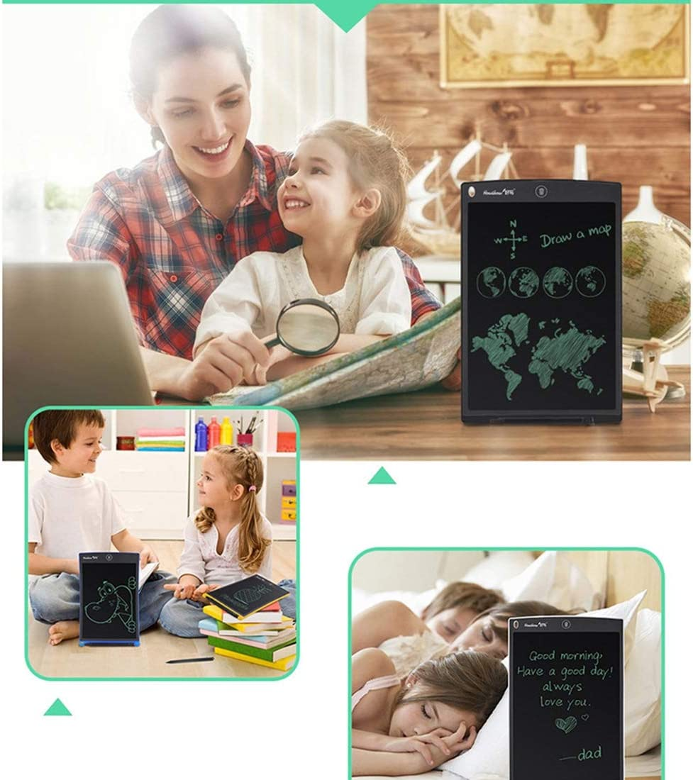 Color : Black Black Consumer electonics HA Howshow 12 inch LCD Pressure Sensing E-Note Paperless Writing Tablet//Writing Board