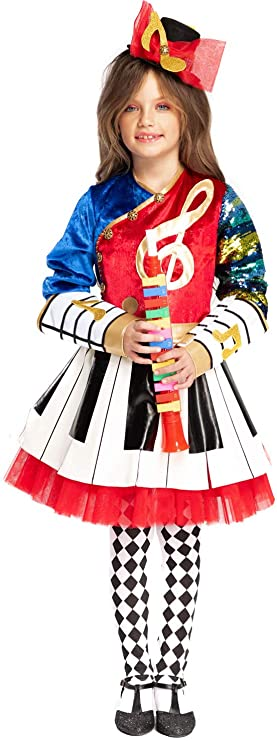 VENEZIANO Disfraz Nota Musical NIA Vestido Fiesta de Carnaval ...