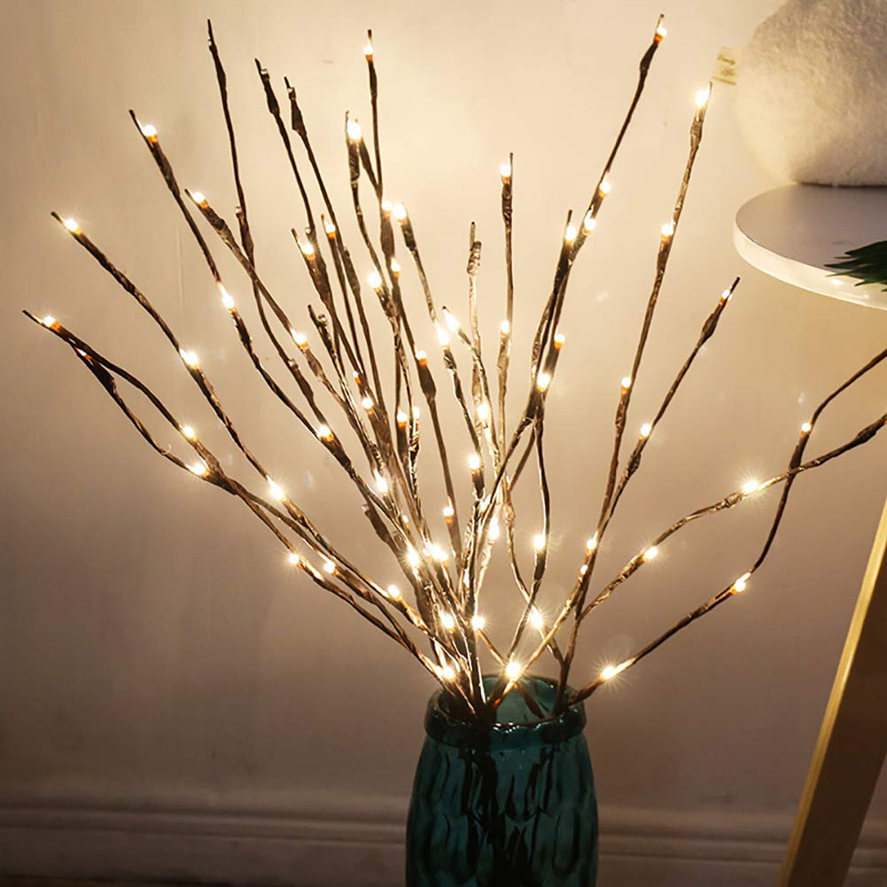 CTlite Branch Lights, Battery Powered LED Decorative Floral Lights Tall  Vase Filler Willow Twig Lighted Branches for Home Decoration (Pack of 3)