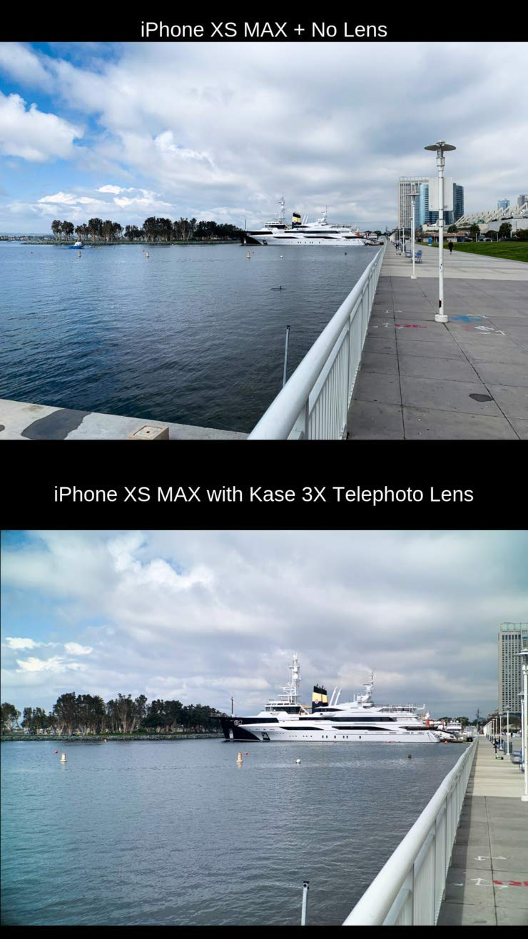 KASE Lens Premium 3X Telephoto Zoom Cell Phone Camera Lens Kit - Must Have Accessories for Mobile Video or Photography - Get 3 Times Closer to The Action - Compatible with iPhone & Android Smartphone by Kase Lens