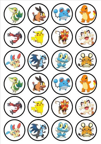 Pokemon-Edible-PREMIUM-THICKNESS-SWEETENED-VANILLAWafer-Rice-Paper-Cupcake-ToppersDecorations