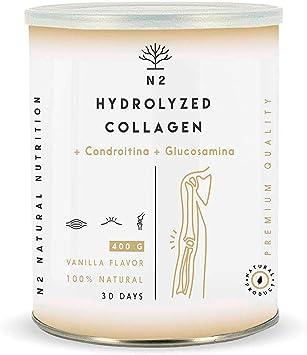 Colágeno Hidrolizado en Polvo Condroitina, Glucosamina Máxima Protección del Cartílago Fortalece Articulaciones Huesos y Piel Magnesio Ácido ...