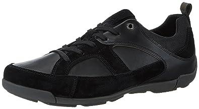6baef9f6e7 Geox Herrenschuhe U720HC U DAMIAN Sportlicher Herren Sneaker , Schwarz, 40  EU
