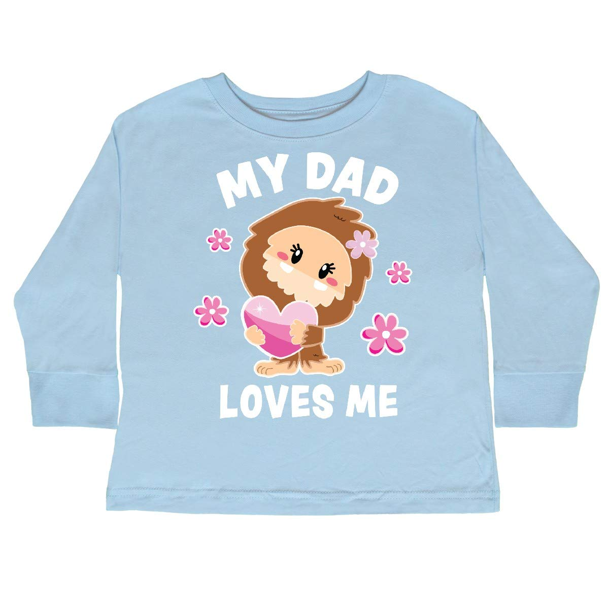 inktastic My Dad Loves Me with Bigfoot Toddler Long Sleeve T-Shirt