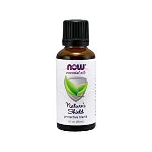 NOW Essential Oils, Nature's Shield, EnergizingAromatherapy Scent, Blend of Pure Essential Oils, Vegan, 1-Ounce