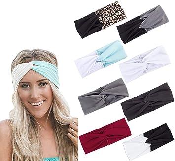 Women Twist Knot Turban HeadBand Elastic Headwrap Sport Yoga Running Hair Band