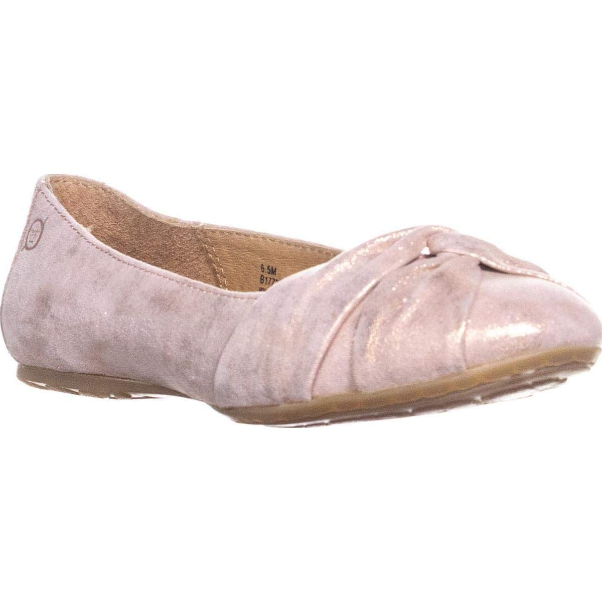 Light Pink Born Womens Lilly Leather Closed Toe Slide Flats