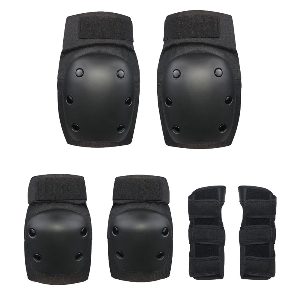 AODEW 7Pcs Sports Protective Gear for Kids Kids Youth Adjustable Sports Protective Gear Set Knee Pads Elbow Pads Wrist Guards
