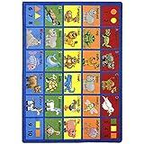 Joy Carpets Kid Essentials Early Childhood Animal Phonics Rug, Multicolored, 7'8'' x 10'9''