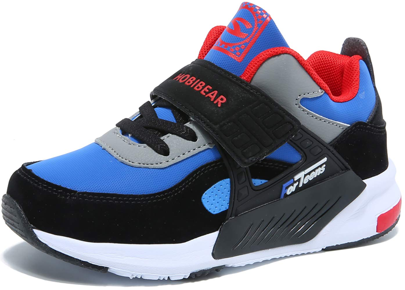 GUBARUN Running Shoes for Kids Outdoor Hiking Athletic Boys Sneakers-Blue/Black by GUBARUN (Image #2)