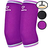 Women's Compression Elbow Sleeves By Smalets- 5mm Neoprene- Perfect Fit Elbow Brace-Ideal For Weightlifting, Tennis, Golf, Workouts & Arthritis Issues- 5 year warranty