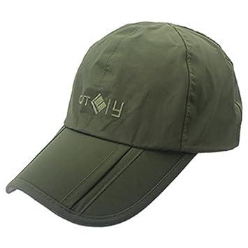 DSstyles UV 50+ Protección Splash Impermeable Secado rápido Cap Sun Brim plegable plegable Deportes al aire libre Sombrero Plegable Gorras… fsXCY5