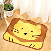 Ustide Lion Floor Mat Cute Kids Rugs for Bed Rooms Non-slip Washroom Area Rug Sets Cartoon Floor Mat 1.47X1.8