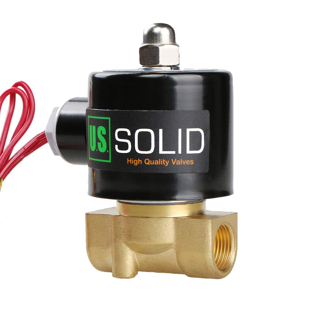 3/8'' Electric Solenoid Valve 24VAC Air Water Fuel Normally Closed VITON by U.S. Solid