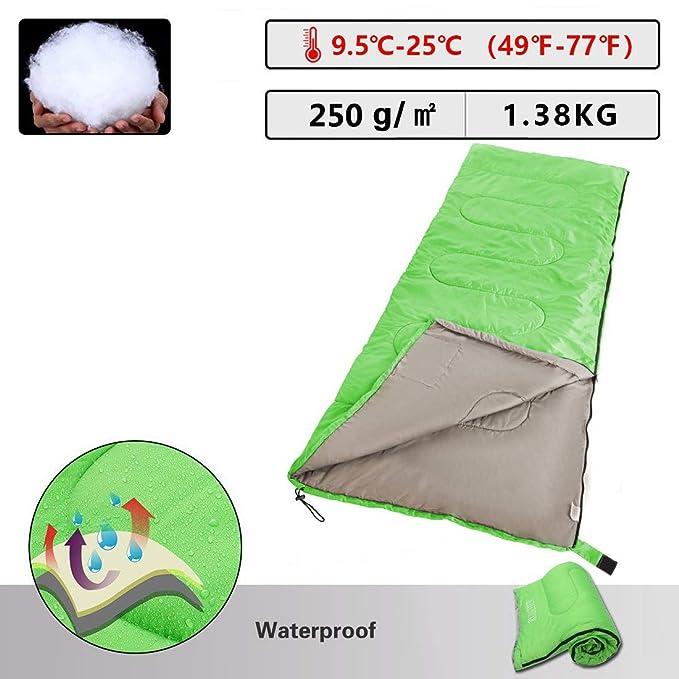 Masviss Saco de Dormir para Camping, Senderismo y al Aire Libre, Green R: Amazon.es: Deportes y aire libre