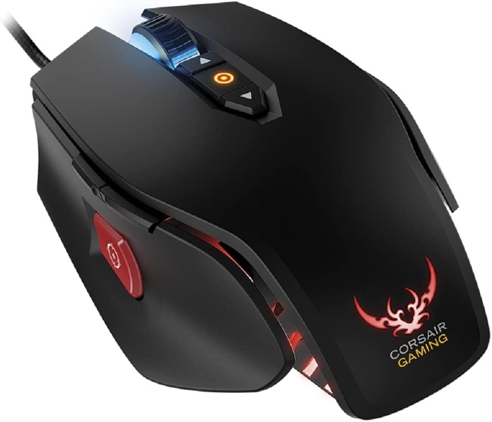 Black CH-9000070-NA Corsair Gaming M65 RGB FPS PC Gaming Laser Mouse