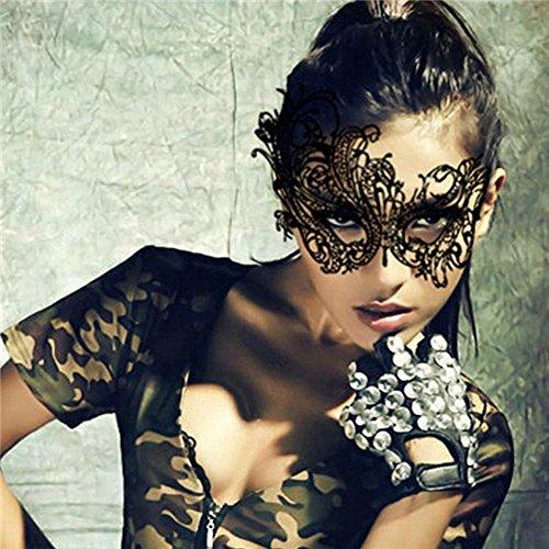 Black Lace Masquerade Mask for Women Venetian Mask For Masquerade - With Glasses Mask Masquerade
