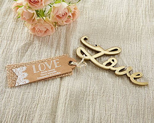 100 Love Antique Gold Bottle Opener