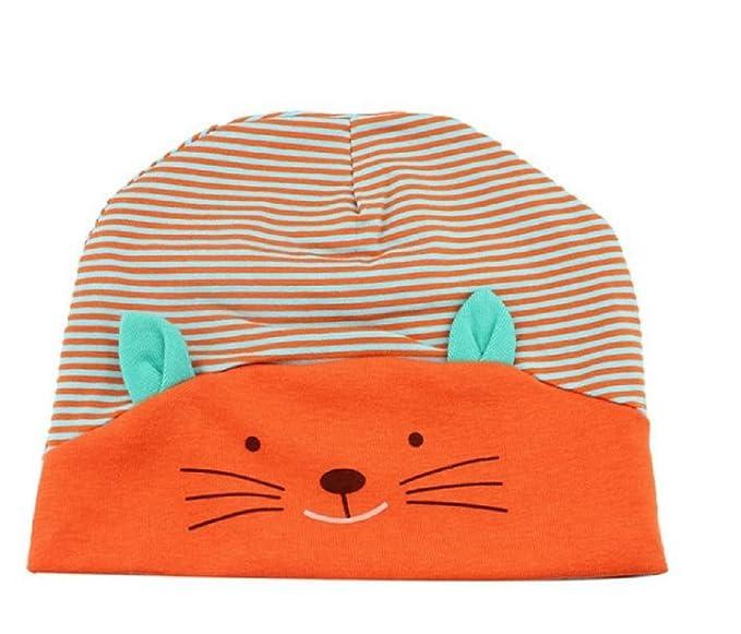 (Arancione) Cappellino Per Bambini Fantasia Gattino A Righe Berretto Neonati  Cotone Idea Regalo Per de715a94916d