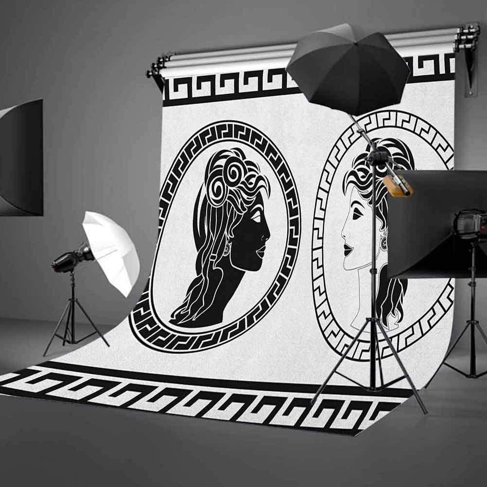 7x10 FT Ikat Vinyl Photography Background Backdrops,Traditional Middle East Culture Inspirations in Geometrical Motifs Warm Colors Background for Selfie Birthday Party Pictures Photo Booth Shoot