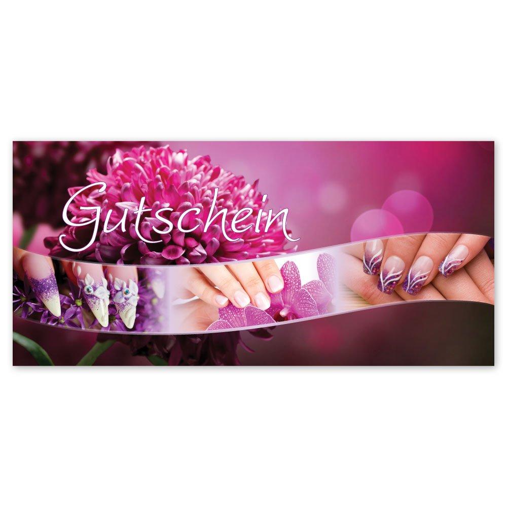 Kosmetik Nagelstudio Nägel Beauty KS1268 Gutscheinkarten mit Kuverts