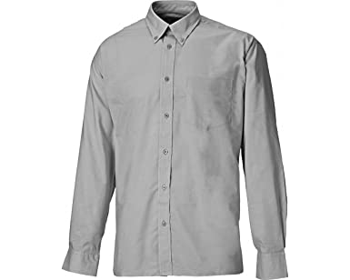 Dickies SH64200-SG-17 Oxford - Camisa de manga larga (talla 17), color gris: Amazon.es: Industria, empresas y ciencia
