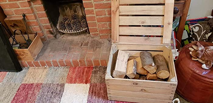 Vintage Wooden Apple Crate With Lid Ideal Toy Box Dog Toy Storage
