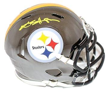 8642c17d1 Amazon.com  Antonio Brown Autographed Pittsburgh Steelers Chrome Mini  Helmet JSA  Sports Collectibles