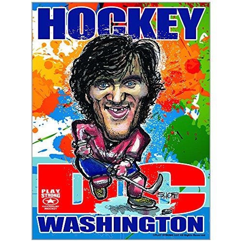 (Play Strong Alexander Ovechkin Washington DC Hockey Poster - Limited Edition Fine Art Hockey Poster Print (Unframed) 18x24 NHL Washington Capitals Star Alex Ovechkin)