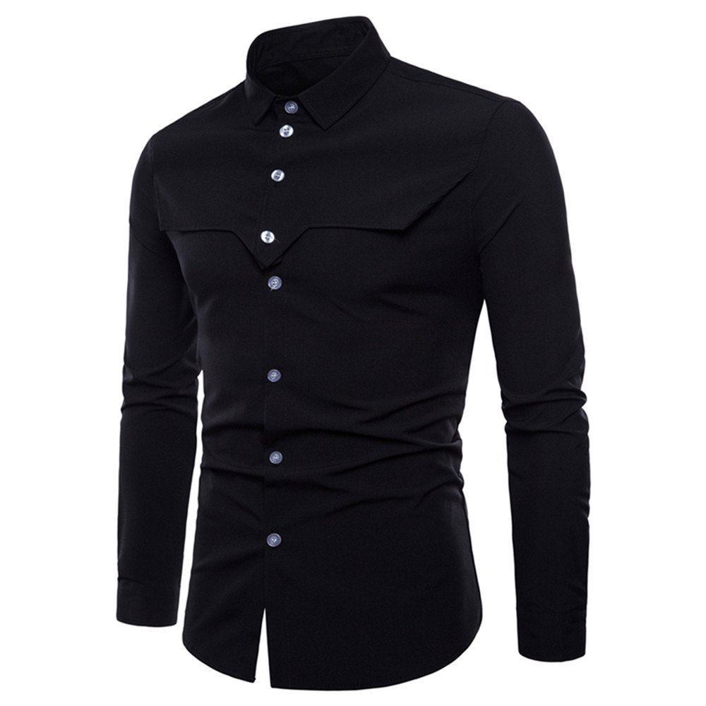 Clearance Mens Shirts ! Charberry Long Sleeve Oxford Formal Casual Suits Slim Fit Tee Shirts Blouse Top