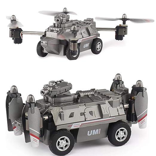 oukery Quadcopters-Tank, 2 en 1 Modo de Aire y Tierra 0,2 MP 720P ...