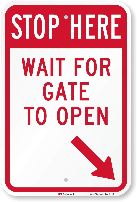 Stop aquí esperar para puerta para abrir (con flecha derecha ...