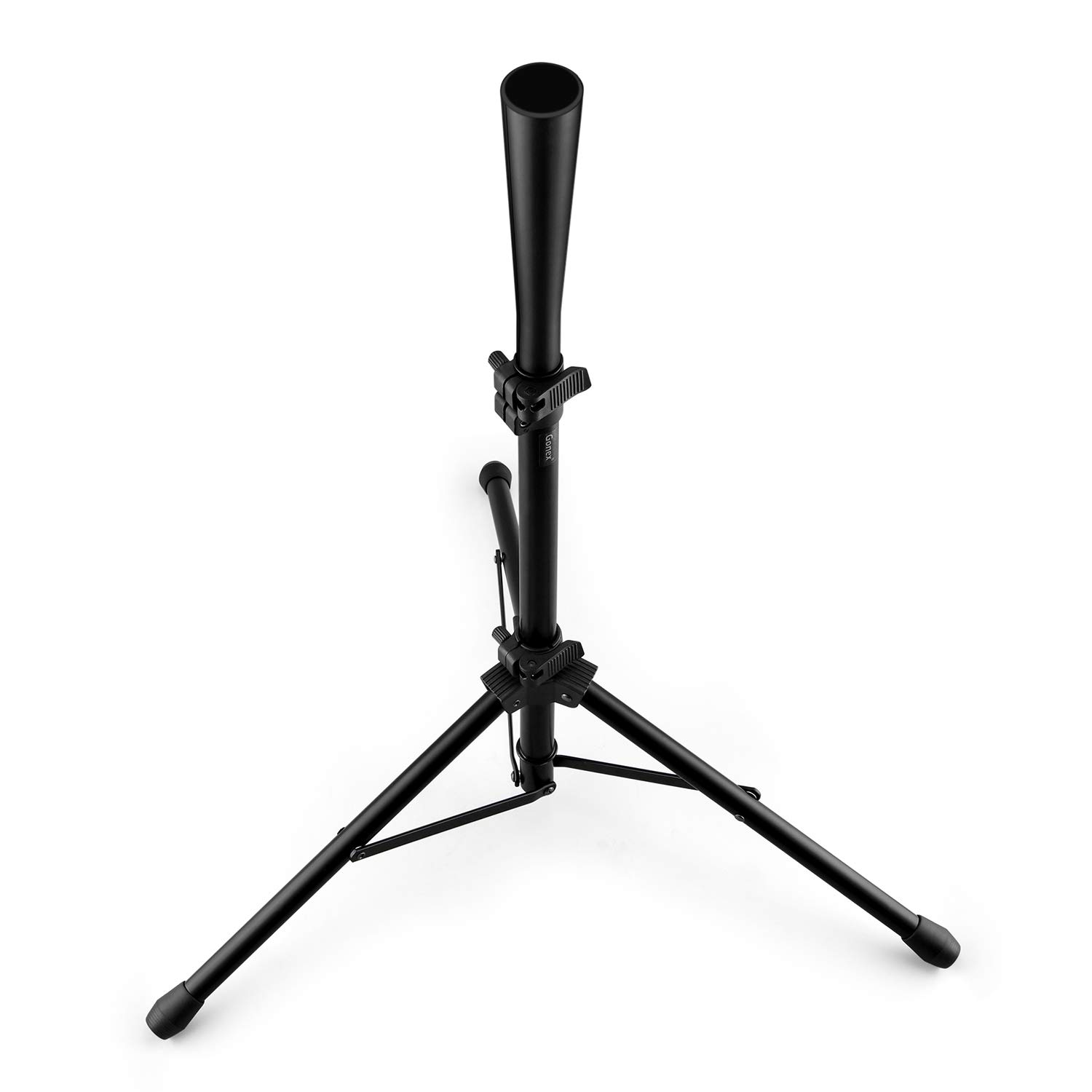 Gonex Baseball Batting Tee Travel Tee Tripod for Baseball Practice Training Aid, Youth & Adult Hitting Tee for Softball, Collapsible Portable, with Carrying Bag, Adjustable 27-44'', Black by Gonex