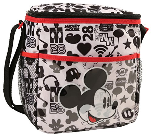 Disney Mickey Mouse Mini Diaper Bag, Conversation (Lined Fully Bag Messenger)