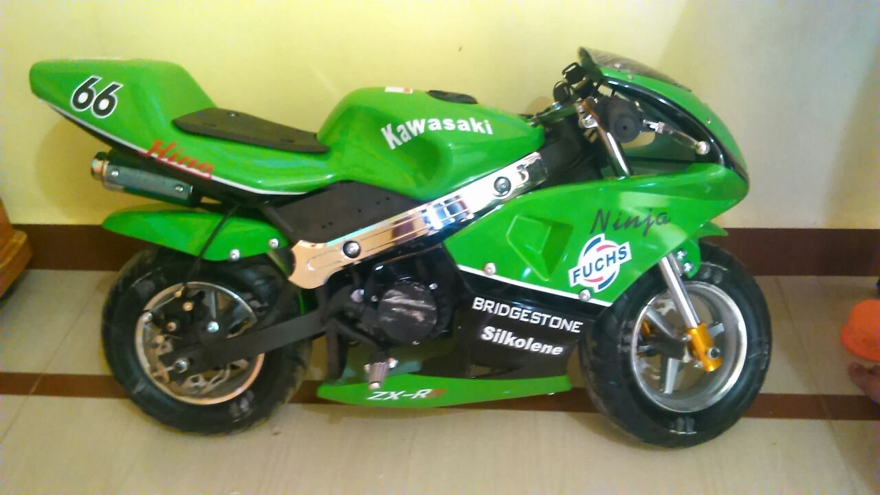 Buy Petrol Mini Moto Racing Sports Pocket Bike Green Online At Old Honda Bikes Low Prices In India