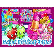 SHOPKINS : Personalized Edible Image Cake Topper