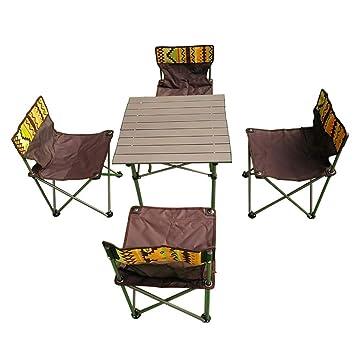 Yx-outdoor Mesa Plegable para pícnic al Aire Libre * 1 Silla ...