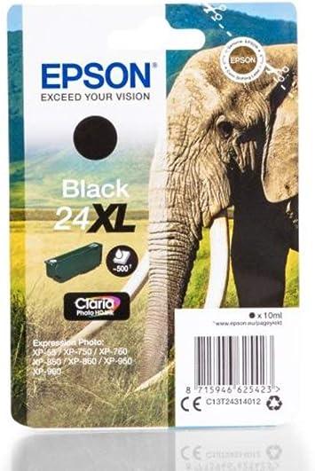 Epson Expression Photo Xp 760 24xl C 13 T 24314010 Original Tintenpatrone Schwarz 500 Seiten 10ml Bürobedarf Schreibwaren