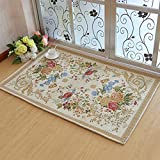 European Garden Floor Mat/Washing Door Mats/Door Mats/Floor Mat/Living Room,Bedroom,Tea Table,Restroom ,Non-slipping Mats-O 140x200cm(55x79inch)